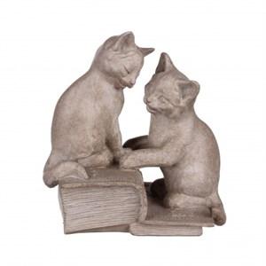 "Статуэтка ""Два котенка на книгах"""