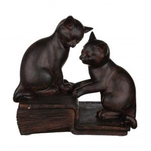 """Статуэтка """"Два котенка на книгах"""" большая"""