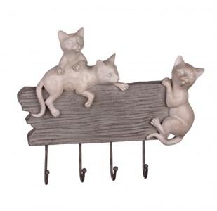 """Вешалка настенная """"Три котенка"""" с крючками"""