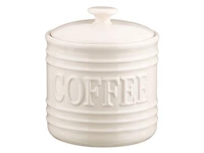 """Банка для хранения """"Кофе"""" 750 мл белая"""