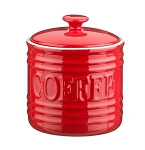"""Банка для хранения """"Кофе"""" 750 мл красная"""