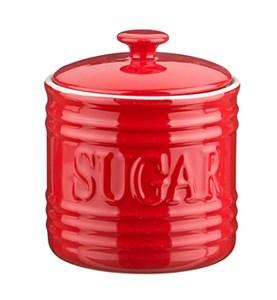 "Банка для хранения ""Сахар"" 750 мл красная"
