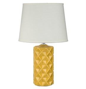 Лампа настольная желтая