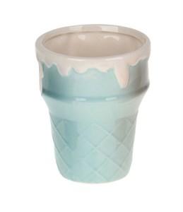 """Креманка-стакан """"Мороженное"""" голубая"""