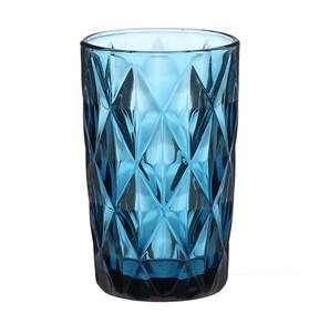 """Стакан """"Клетка"""" 350 мл синий из цветного стекла"""