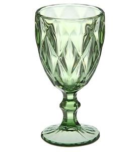 """Бокал """"Клетка"""" зеленый 300 мл из цветного стекла"""