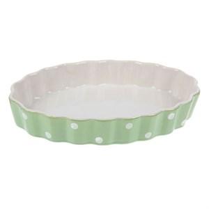 """Форма для запекания и сервировки """"Зеленый горох"""" овальная малая"""