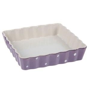 """Форма для запекания и сервировки """"Фиолетовый горох""""  прямоугольная"""