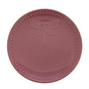"Тарелка ""Стрекоза"" диаметр 20 см фиолетовая"