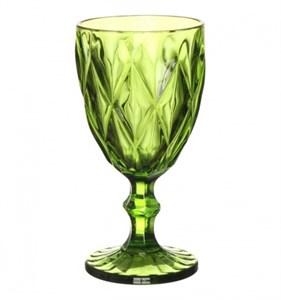 """Бокал """"Клетка"""" ярко-зеленый 300 мл из цветного стекла"""