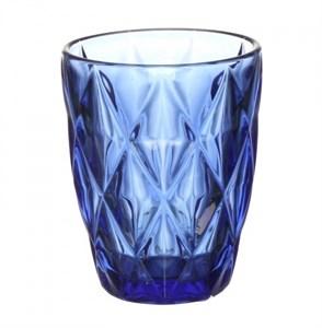 """Стакан """"Клетка"""" синий из цветного стекла"""
