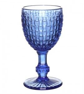 """Бокал """"Плетеный"""" синий 300 мл из цветного стекла"""