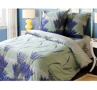 """Набор постельного белья """"Букет лаванды"""" 220х145: простыня, пододеяльник, две наволочки 50х70 см, бязь"""