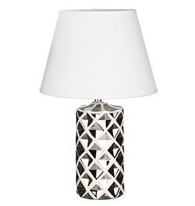 Лампа настольная серебристая