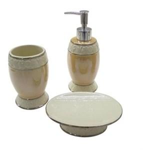 """Набор для ванной """"Нежность"""": дозатор, мыльница, стакан для щеток"""