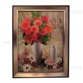 """Картина в раме """"Натюрморт с розами"""" 2"""