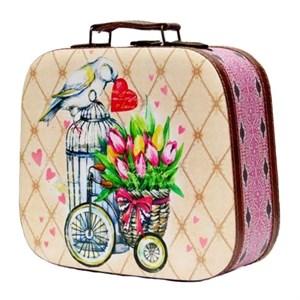 """Шкатулка-чемоданчик """"Тюльпаны"""""""