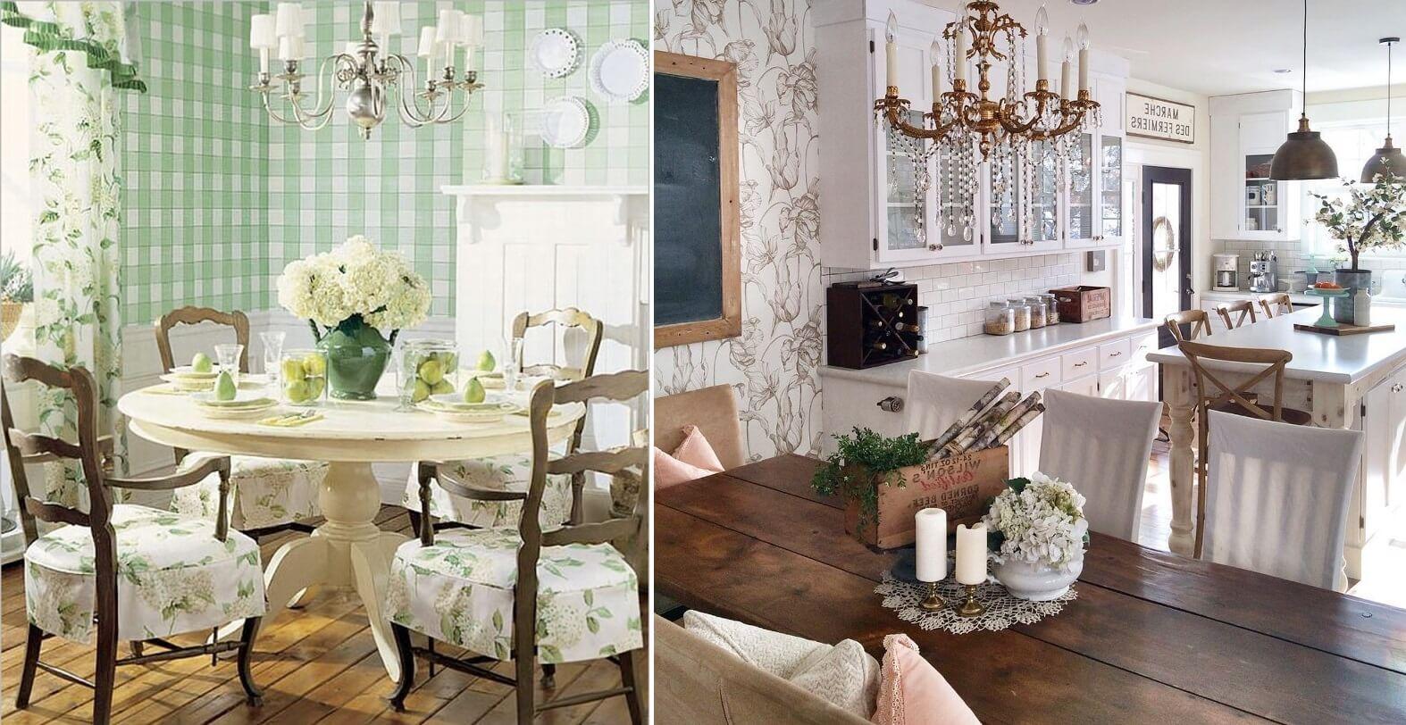 Обои в стиле прованс для кухни фото